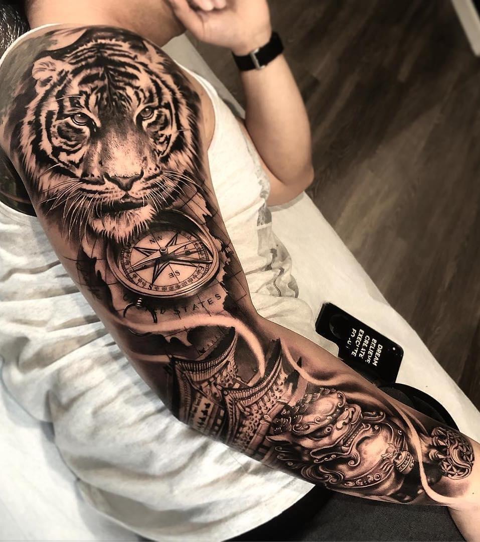Como Escolher Tatuagem Homem 50 tatuagens de braço fechado masculinas para se inspirar