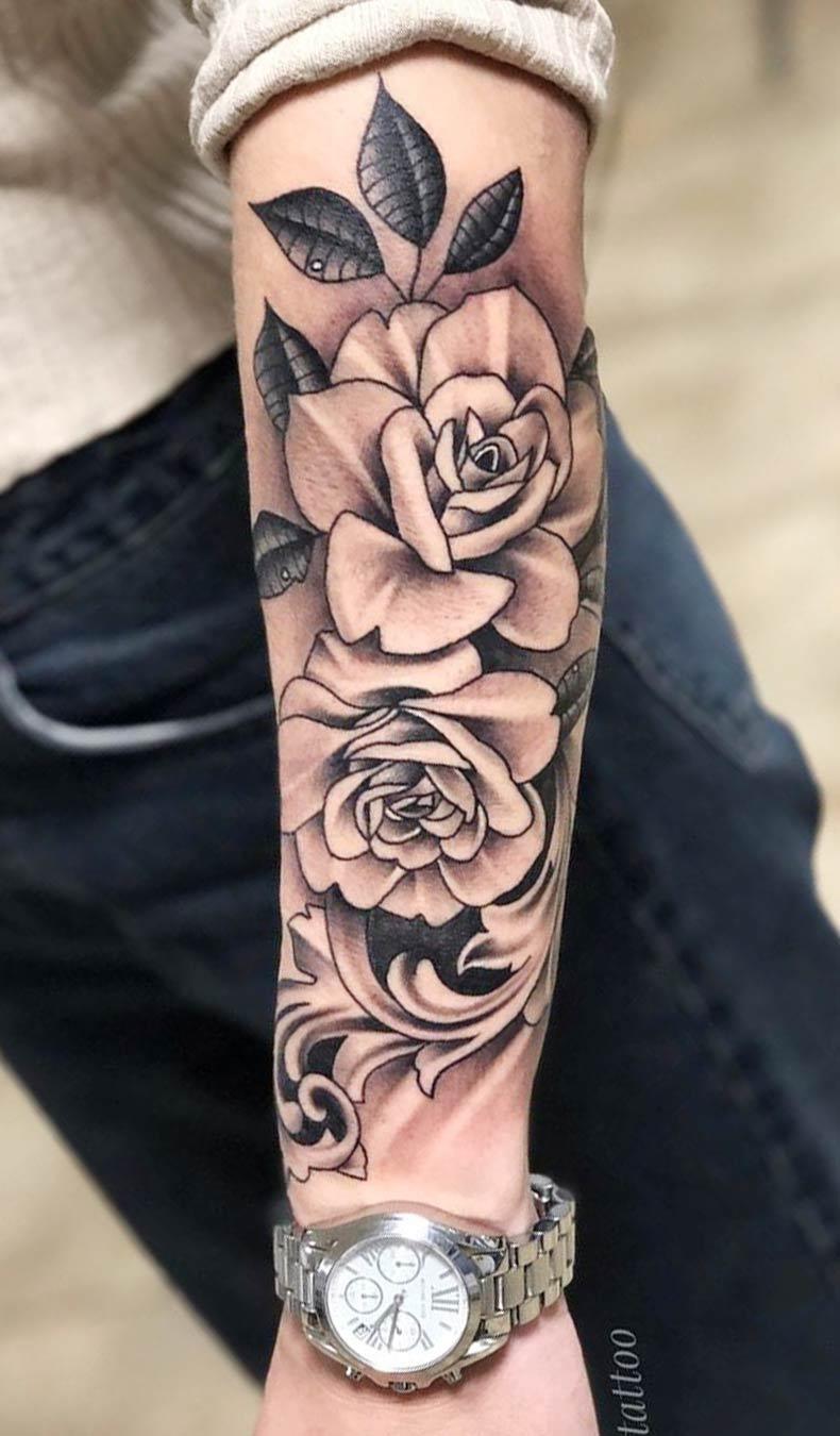 tatuagem-de-rosas-feminina-no-antebraco-2020