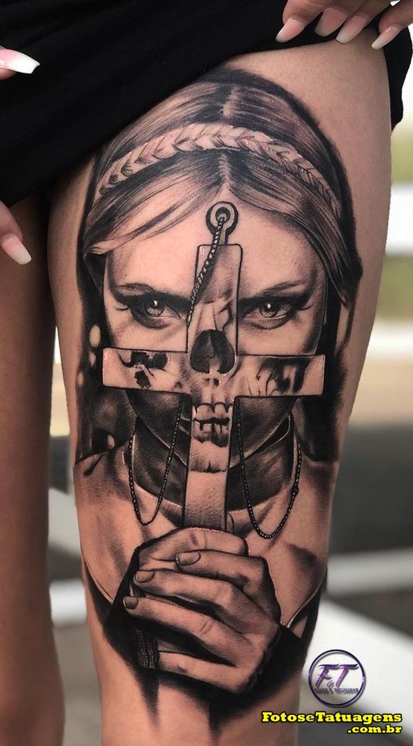 tatuagem-feminina-na-perna