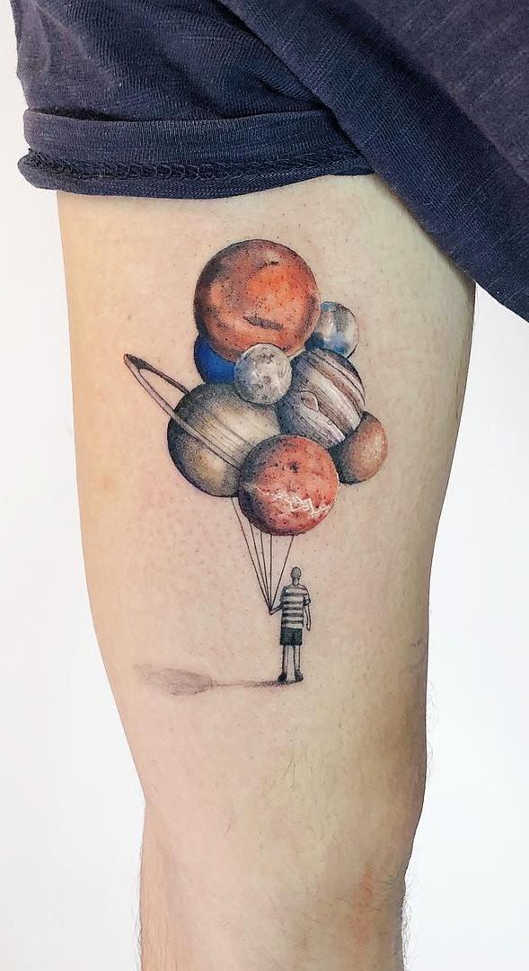 Tatuagem-de-planetas
