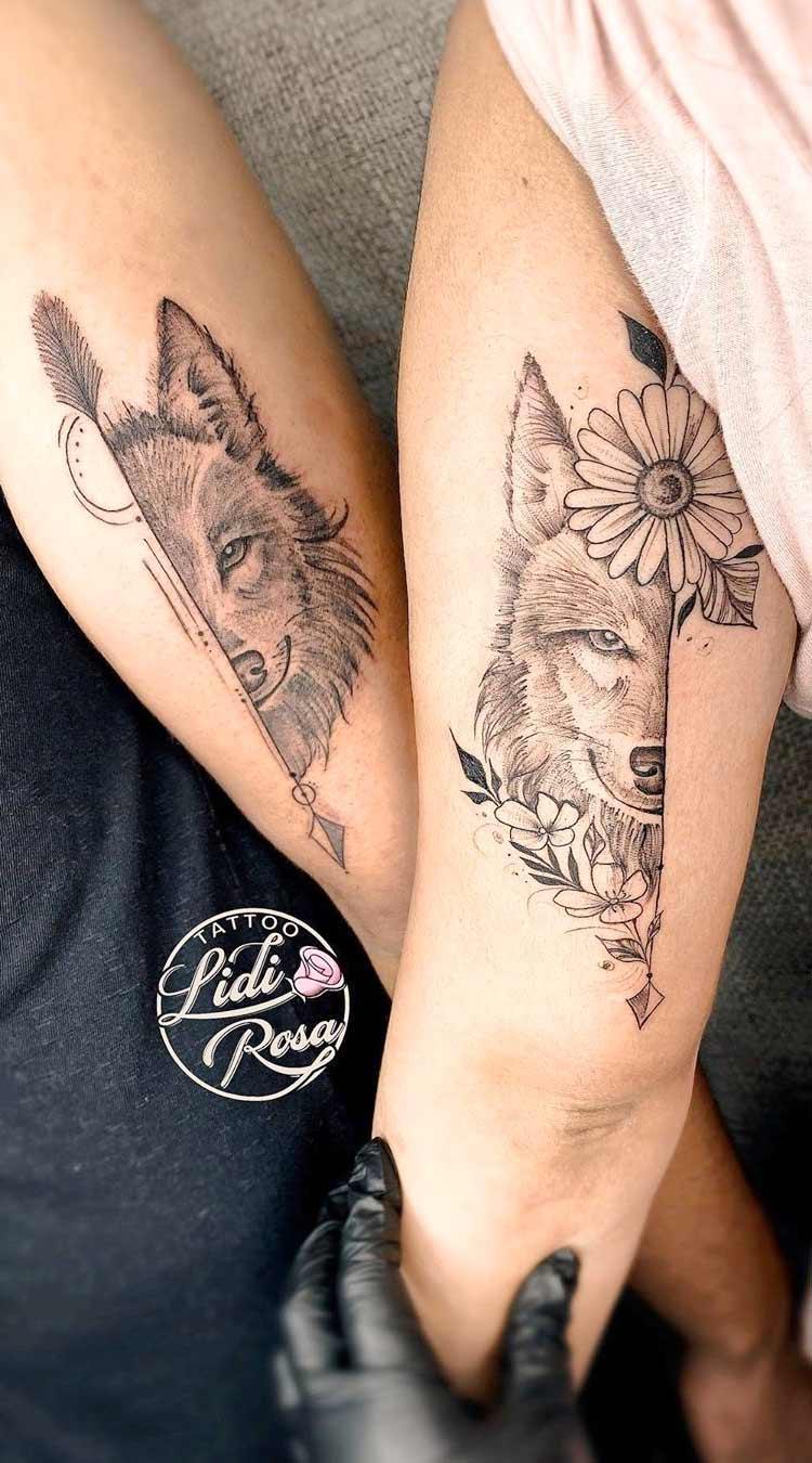 tatuagem-de-lobo-para-fazer-em-casal