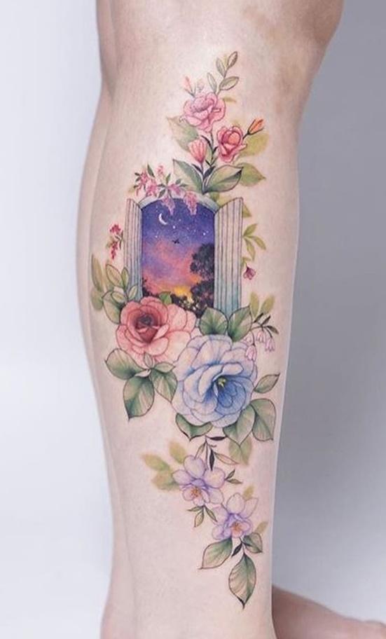 tatuagem-colorida-no-tornozelo