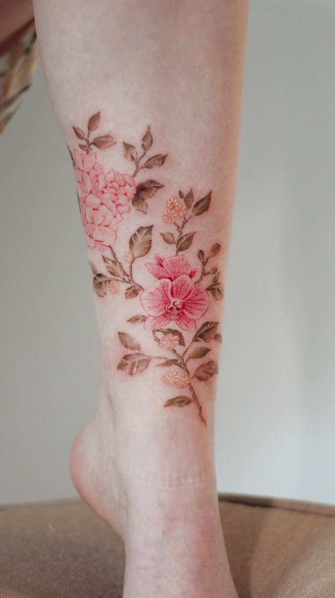 tatuagem-florida-no-tornozelo