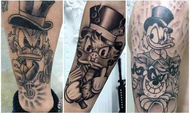 25 Tatuagens Do Tio Patinhas Para Se Inspirar Fotos E