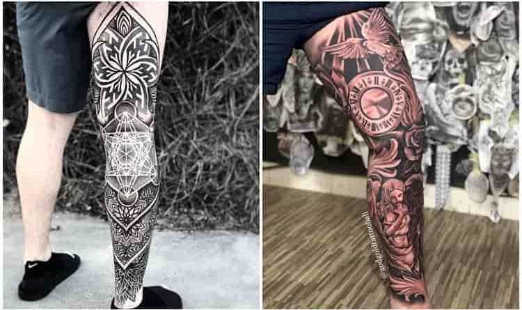 55 Ideias De Tatuagens Masculinas Na Perna Fotos E Tatuagens