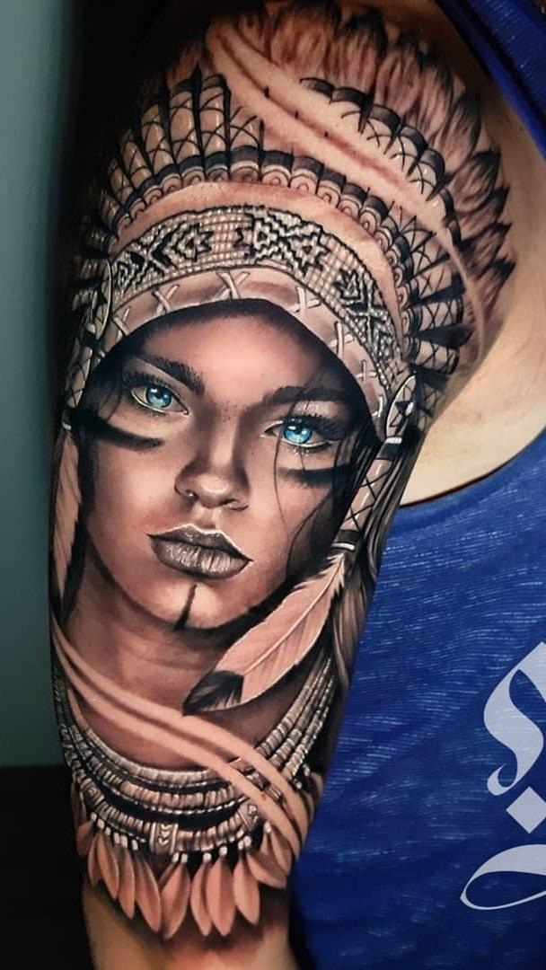 tatuagem-de-india-no-braço