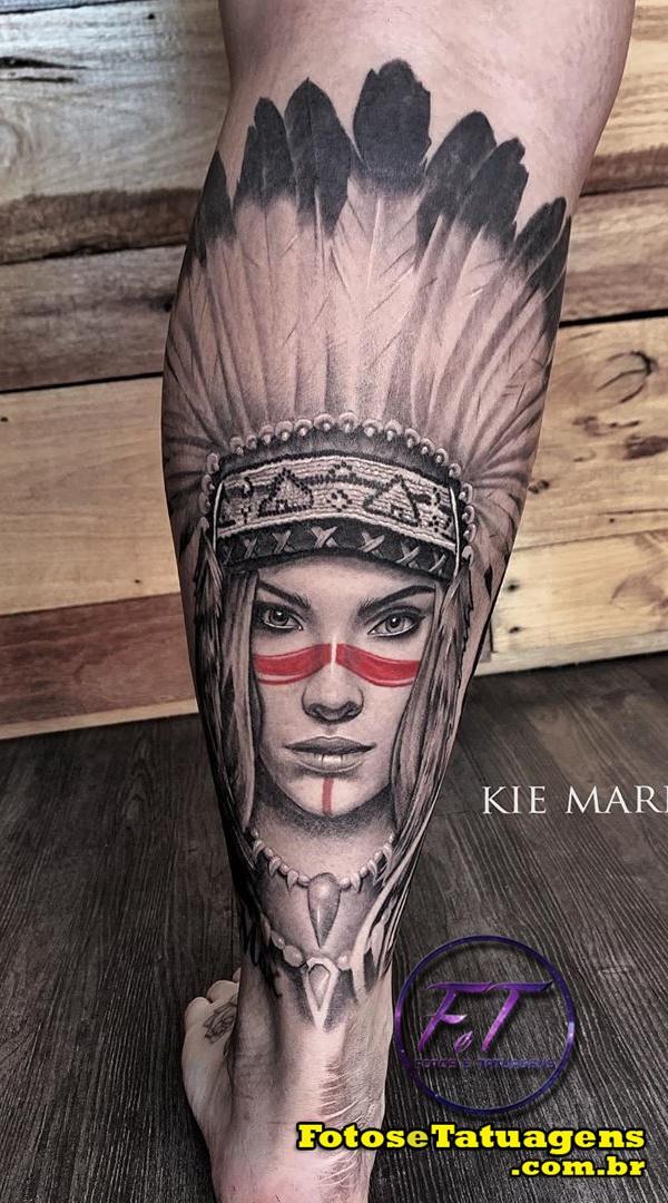 tatuagem-masculina-na-perna-de-india