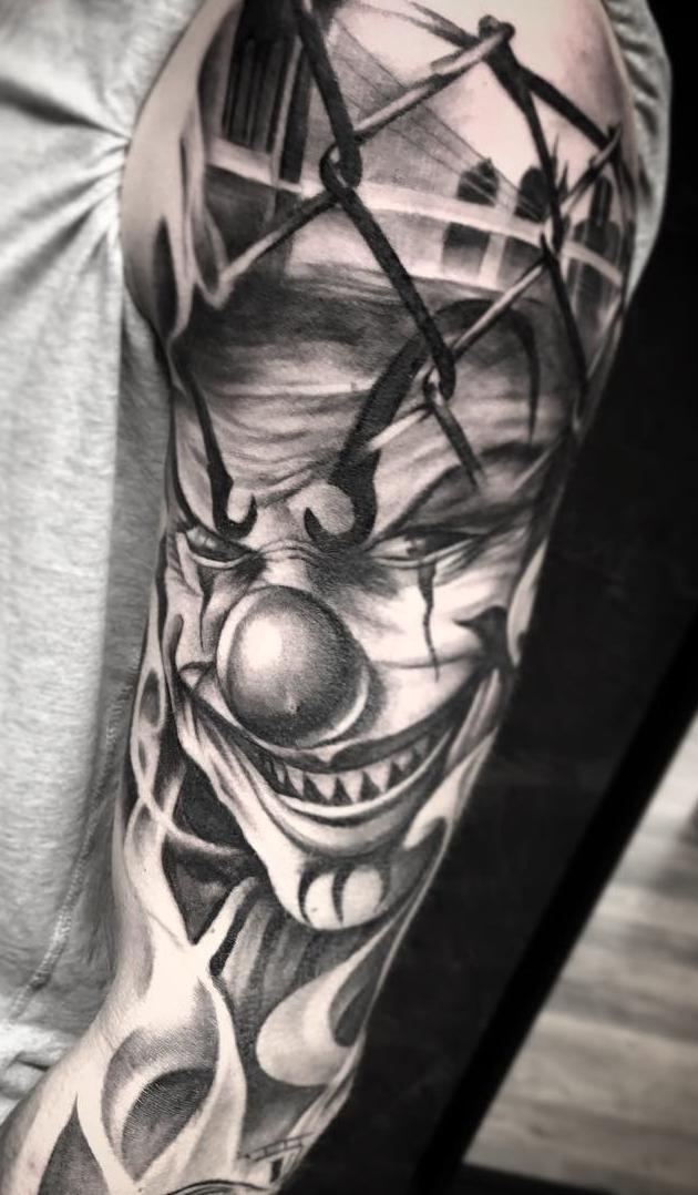 Fotos-de-Tatuagens-de-palhaço-3
