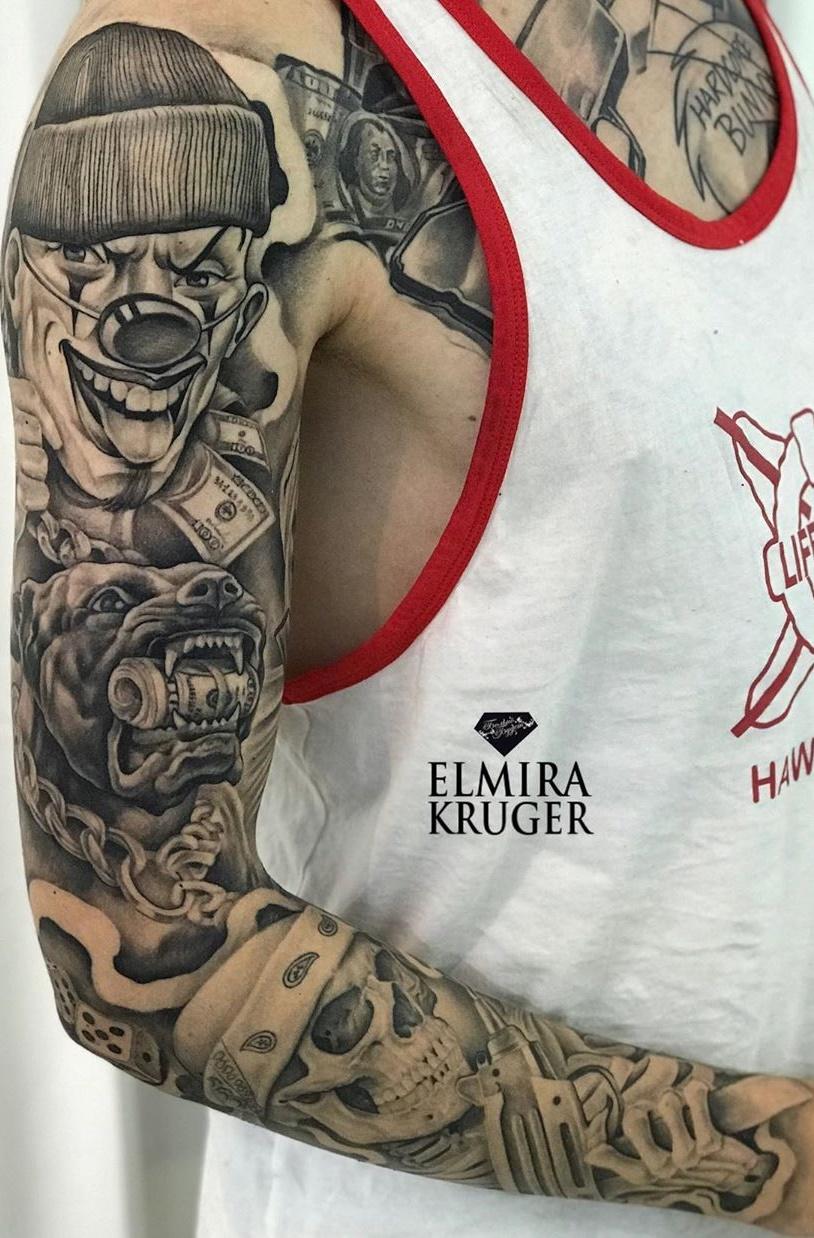 tatuagem-de-palhaço-1