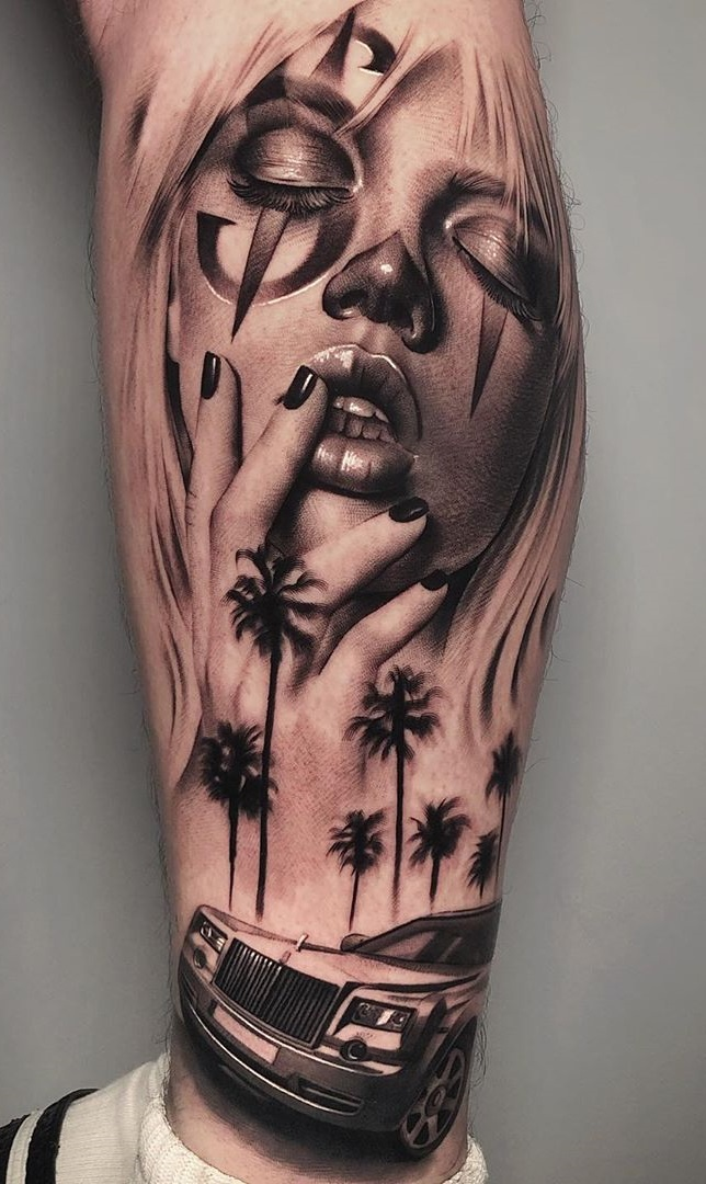 tatuagem-feminina-de-palhaço