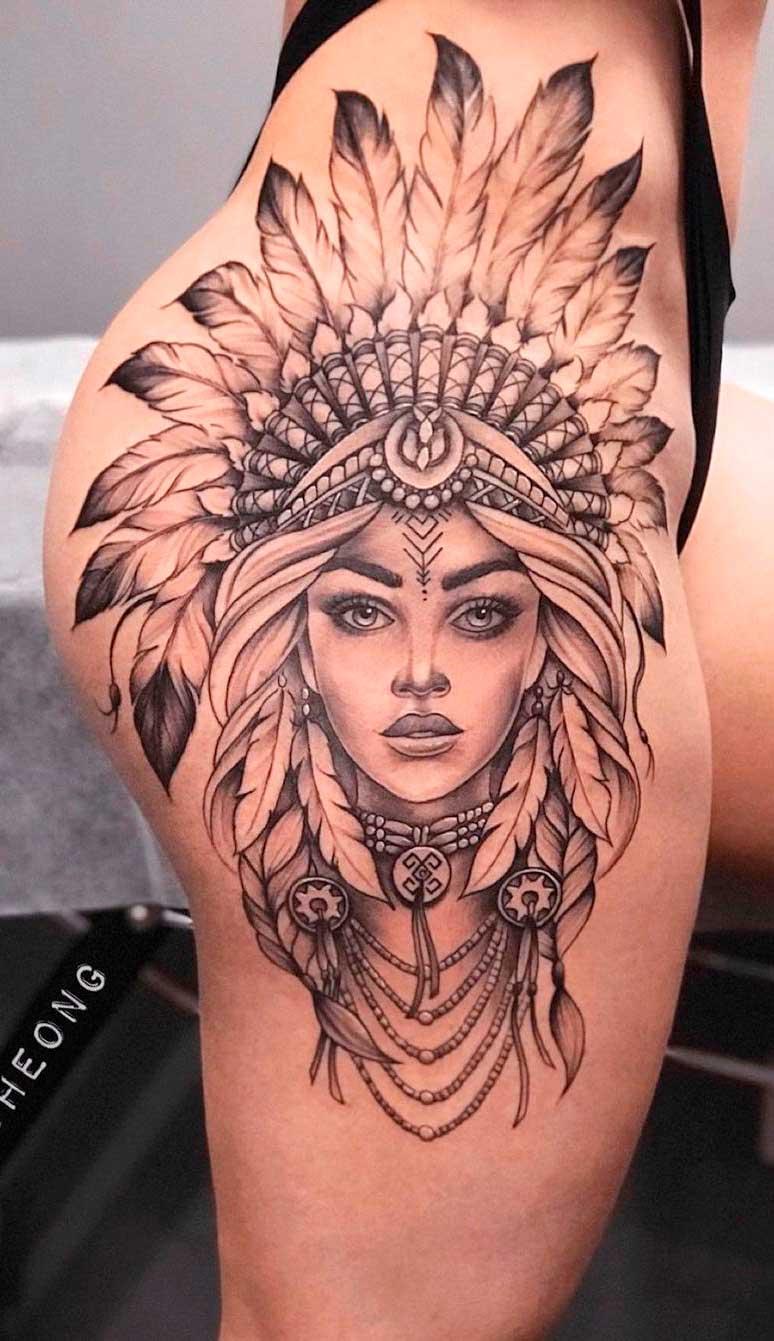 tatuagem-de-india-no-quadril