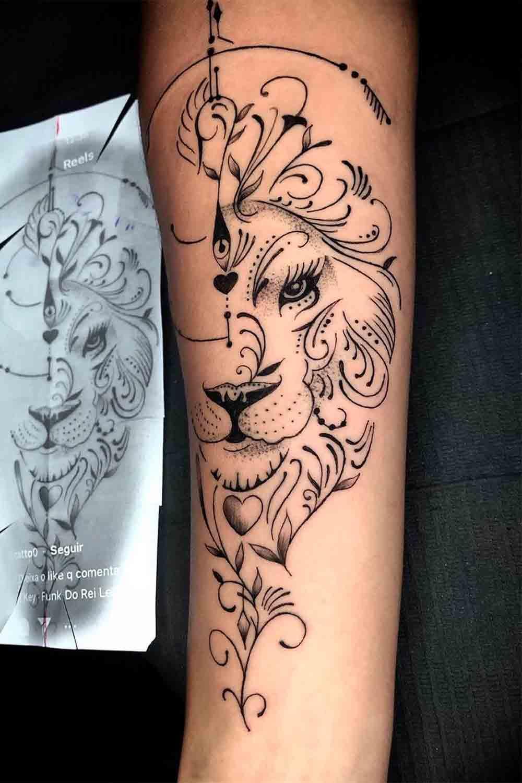 tatuagem-de-leao-no-antebraco