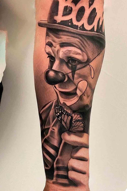 tatuagem-de-palhaco-no-antebraco