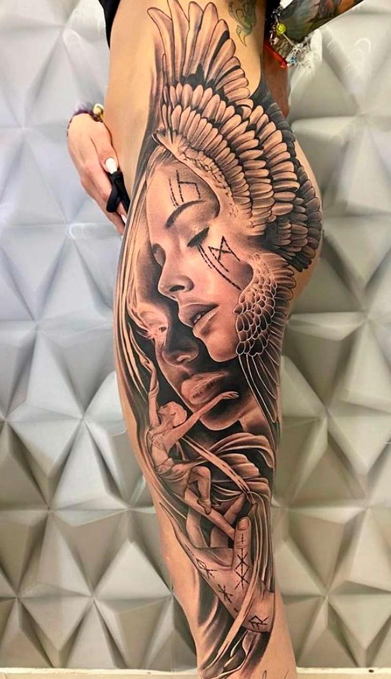 tatuagem-realista-na-perna
