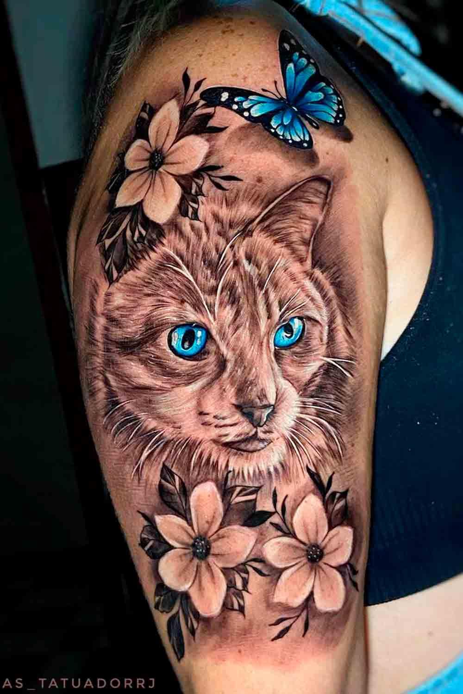 tatuagem-de-gato-realista