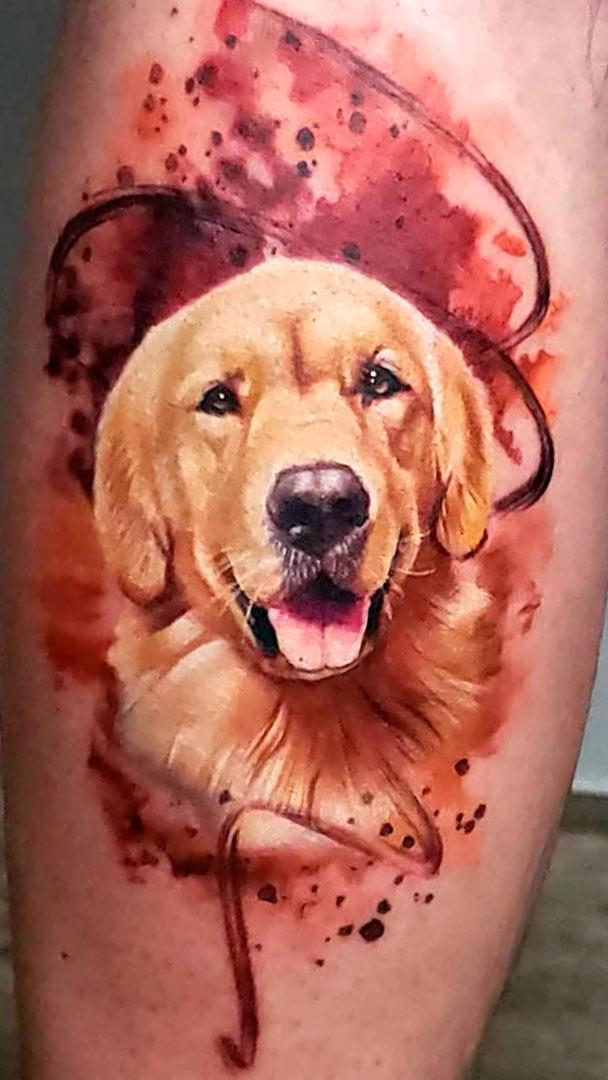 tatuagem-realista-de-cachorro