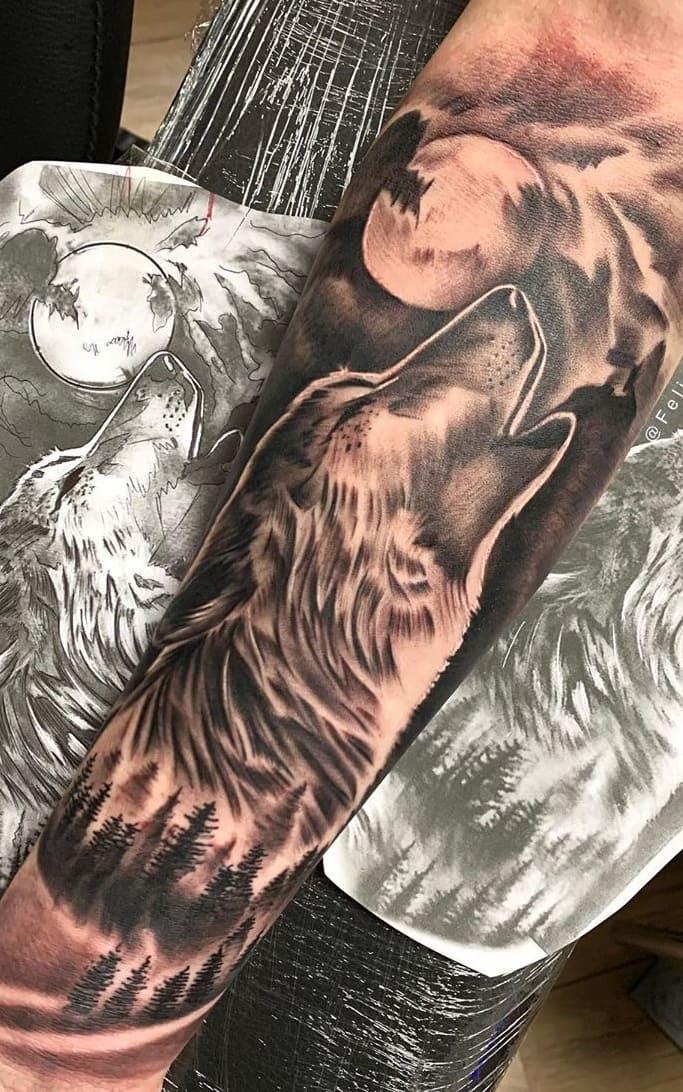 fotos-de-tatuagens-masculinas-de-lobo-16