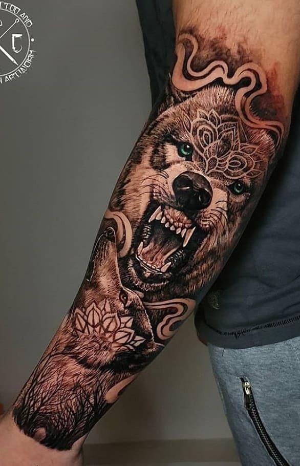 fotos-de-tatuagens-masculinas-de-lobo-17