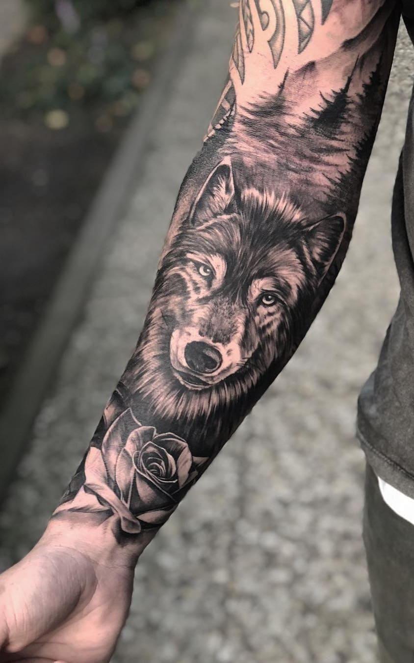 fotos-de-tatuagens-masculinas-de-lobo-9