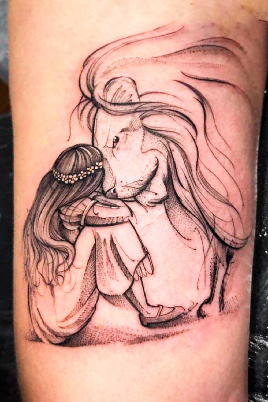 tatuagem-de-leao-e-menina