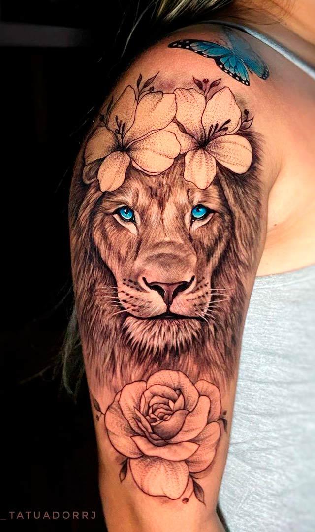 tatuagem-de-leao-feminina-no-braco