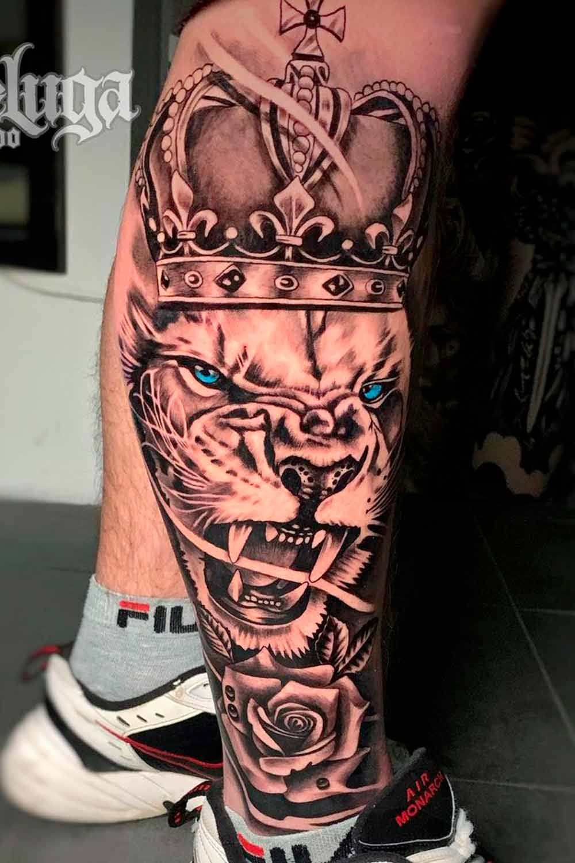 tatuagem-de-leao-na-perna-2021