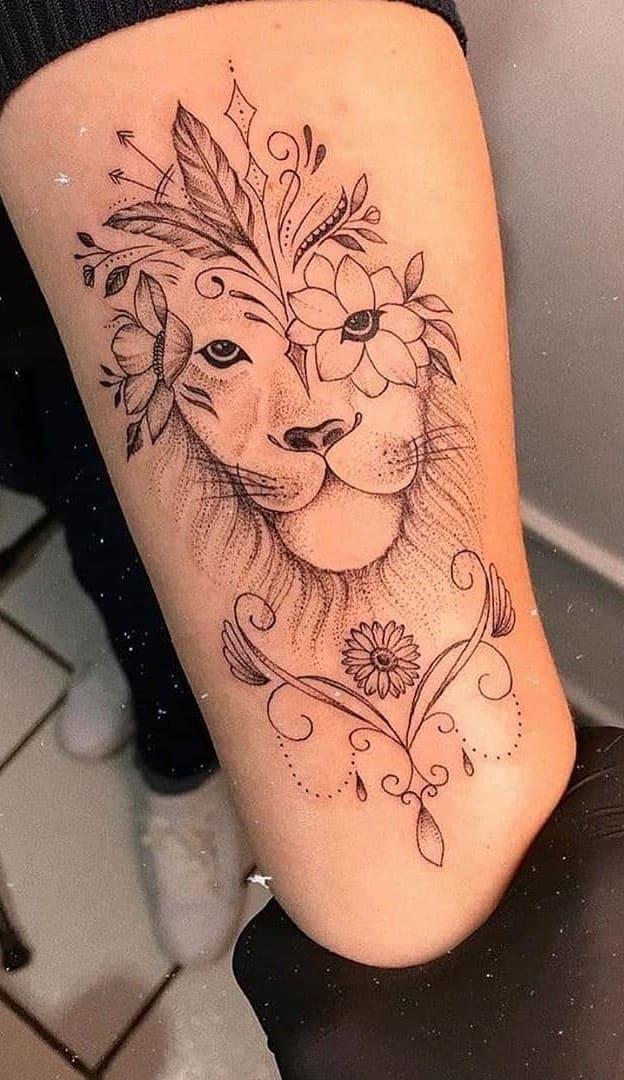 tatuagens-femininas-de-leao-2020-7