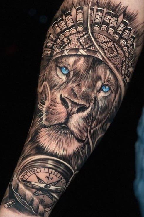 tatuagens-masculinas-de-leao-2020-14