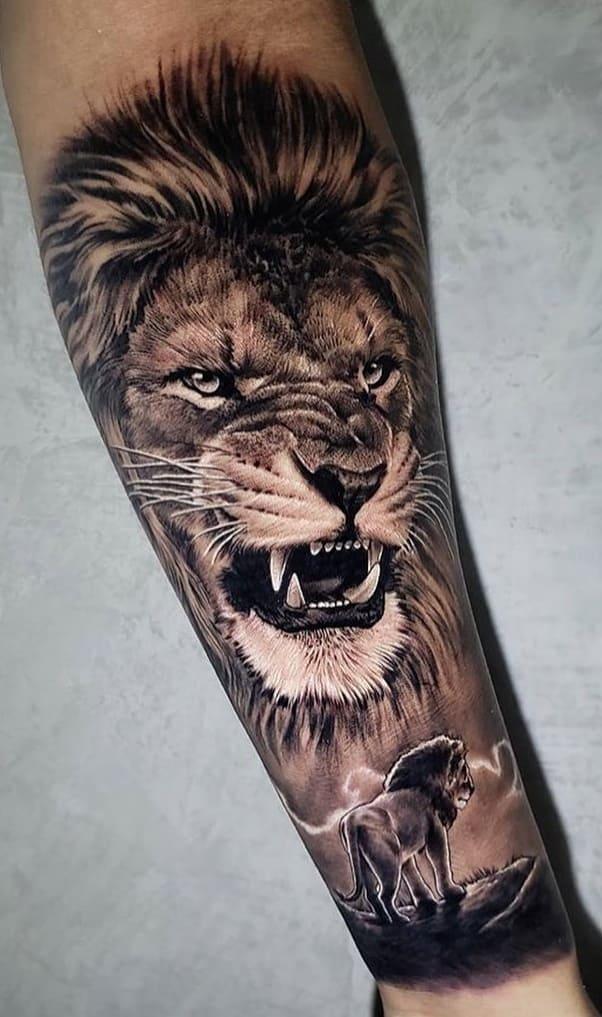 tatuagens-masculinas-de-leao-2020-15