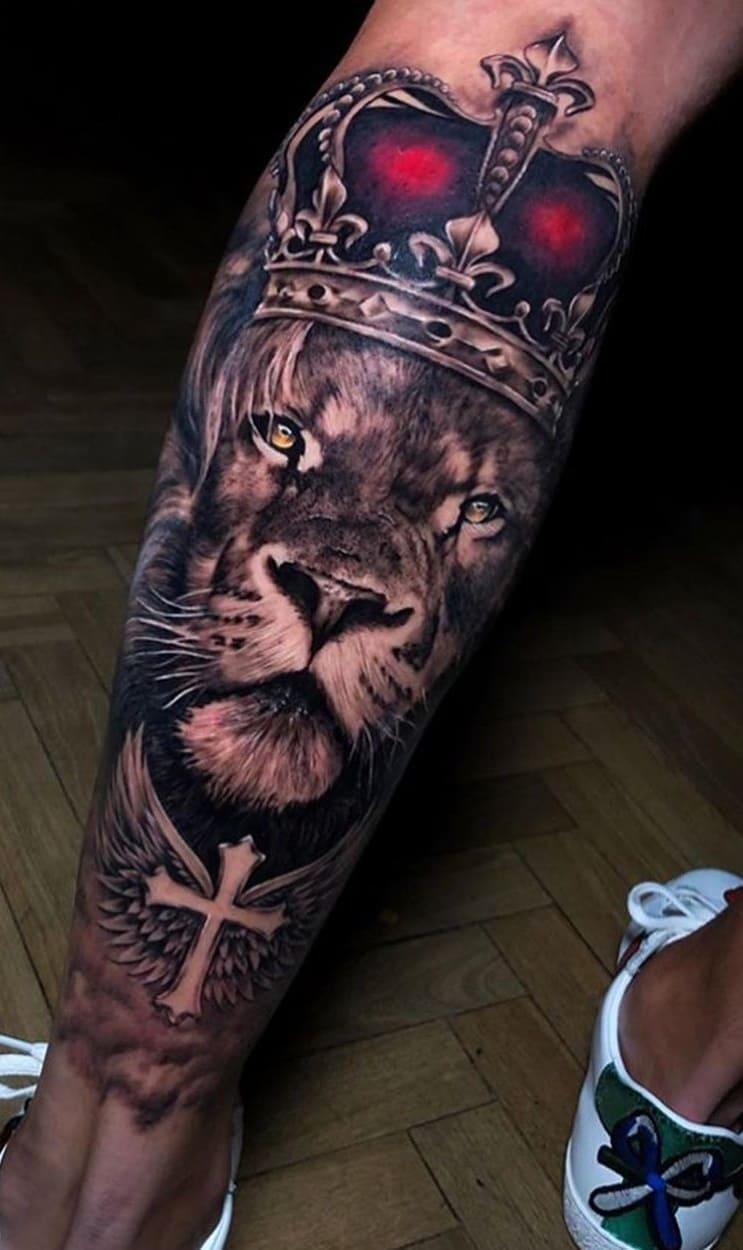tatuagens-masculinas-de-leao-2020-18