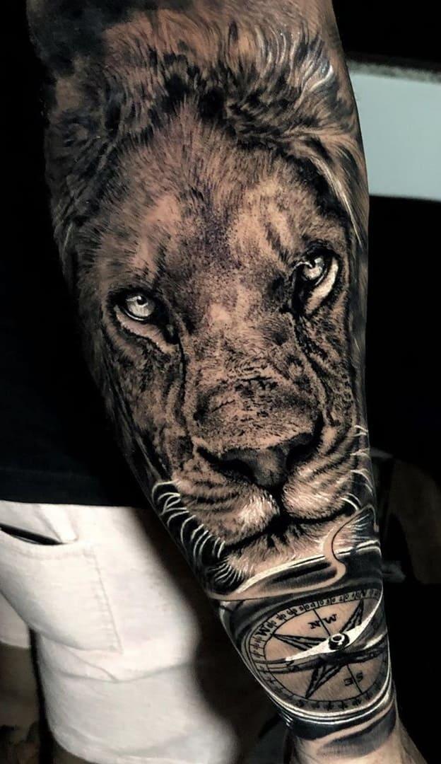 tatuagens-masculinas-de-leao-2020-22