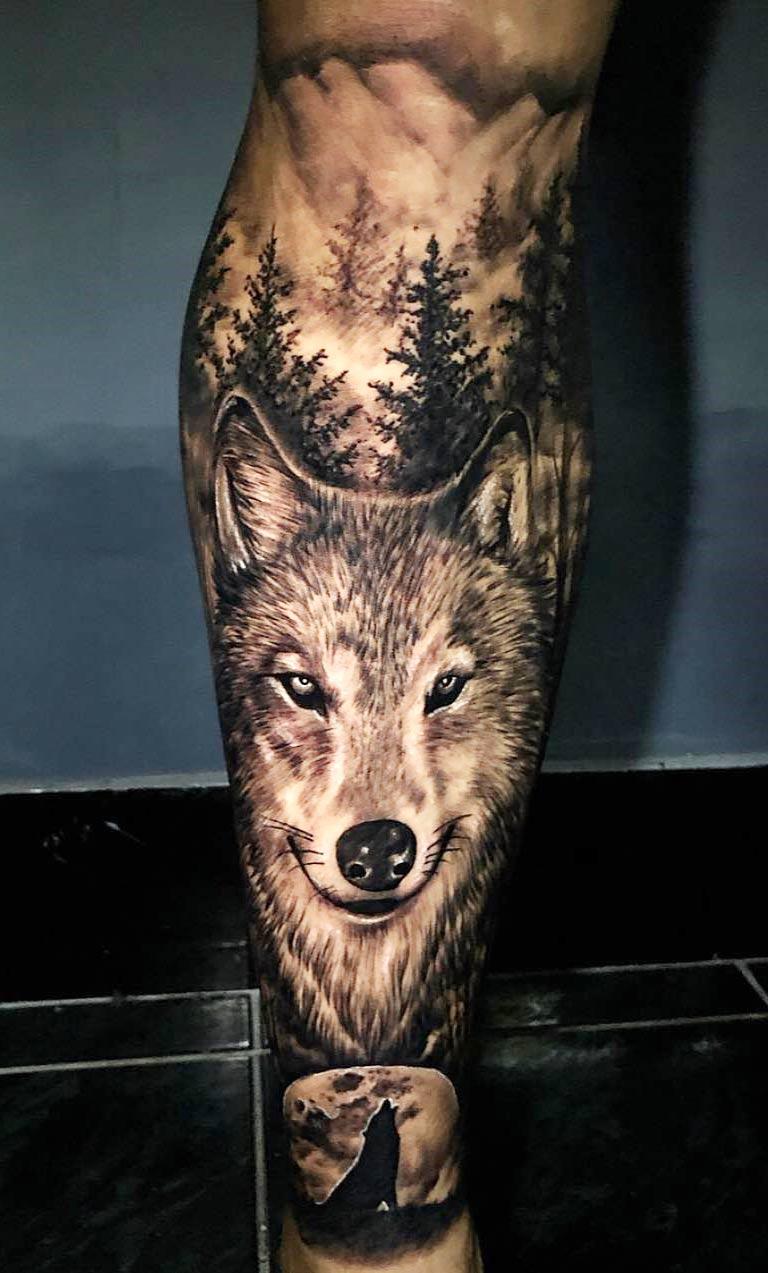 tatuagem-de-lobo-2020-na-perna
