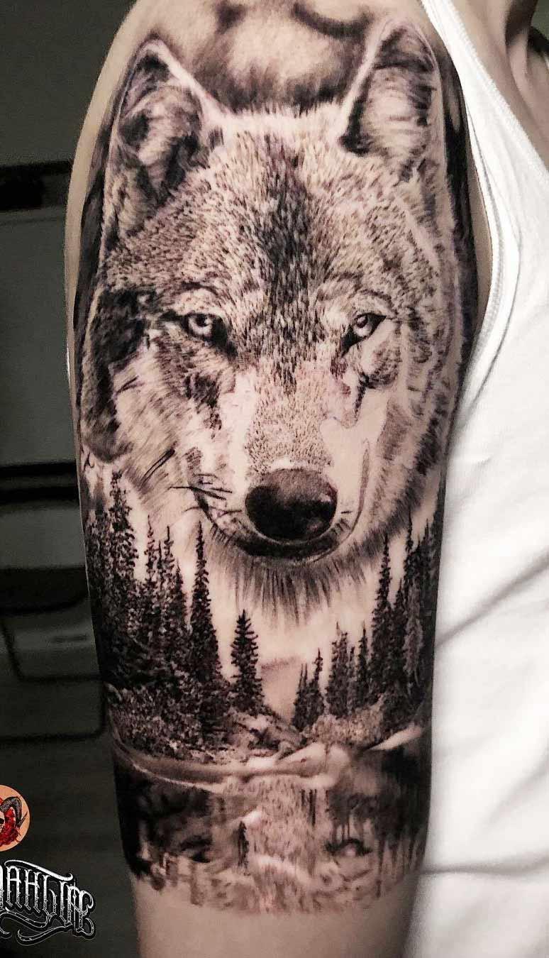 tatuagem-de-lobo-na-floresta-2020