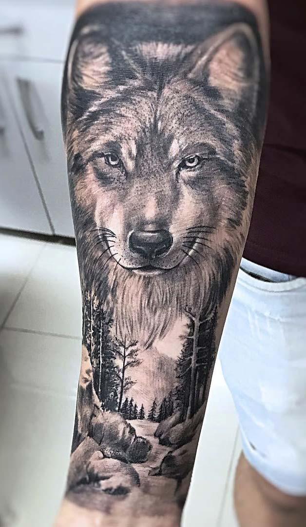 tatuagem-de-lobo-realista-no-antebraco-2020