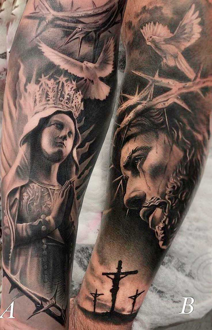 tatuagem-religiosa-da-maria-e-jesus